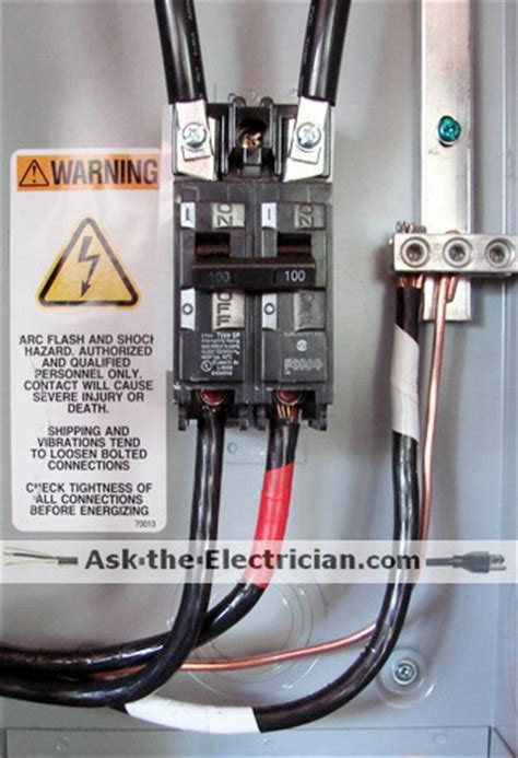 electrical wiring services wire size for a home electrical service panel