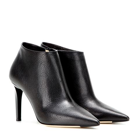 jimmy choo boots jimmy choo hart embossed leather ankle boots in black lyst