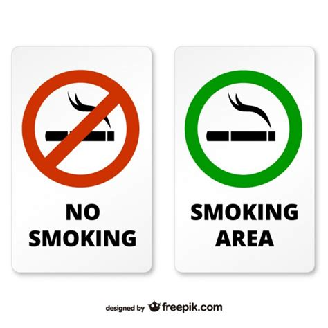 no smoking sign ai smoking and non smoking area signs vector free download
