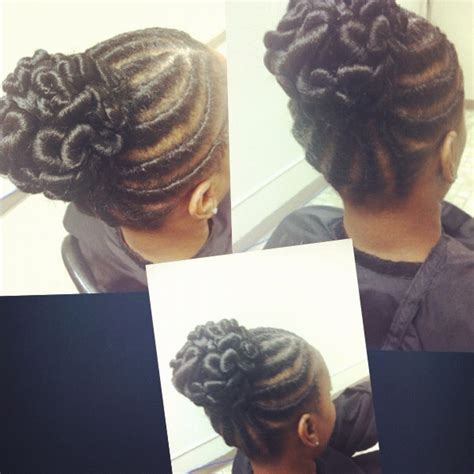 african american updos with stuffed twist flat twist
