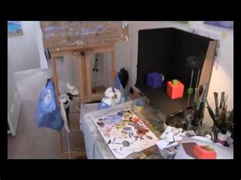 painting at home how to set up artist studio youtube