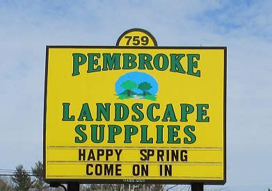 pembroke landscape supplies mulch loam sand stone