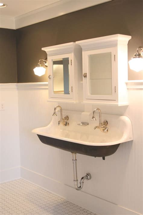 commercial trough sinks for bathrooms kohler available at lowes bathrooms pinterest