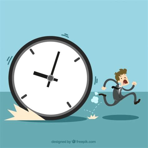 the time management concept vector free download