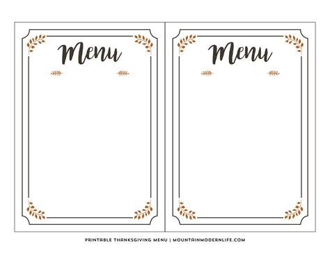 empty menu templates free blank restaurant menu templates