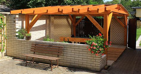 wooden pergola with roof pitched roof pergola