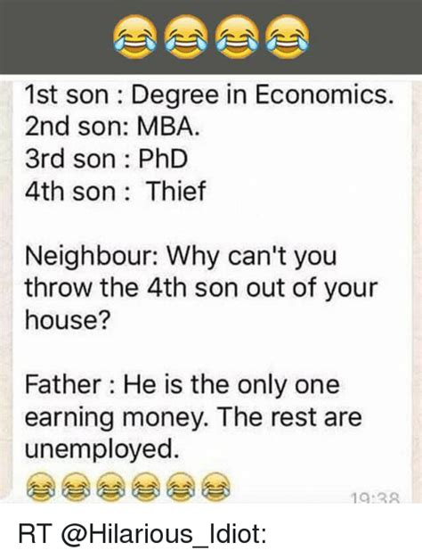 Mba In Economics Careers by 1st Degree In Economics 2nd Mba 3rd Phd 4th