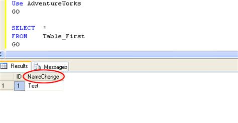 how to change table name in sql sql server how to rename a column name or table name