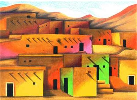 mexican houses stock illustration mexican adobe house