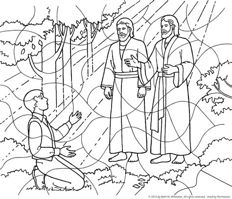 lds coloring pages heavenly father first vision coloring page