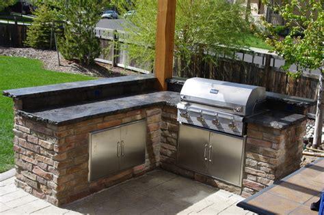 Outdoor Tile Countertop by Rustic Outdoor Concrete Countertop Kitchen