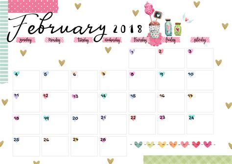 printable calendar 2018 colorful february 2018 printable colorful calendar free download
