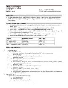 Etl Architect Sle Resume by Uc Resume 2013
