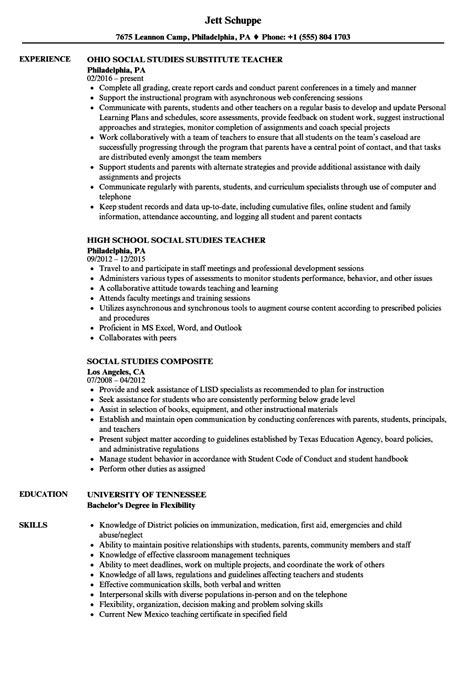 social science resume format social studies resume sles velvet
