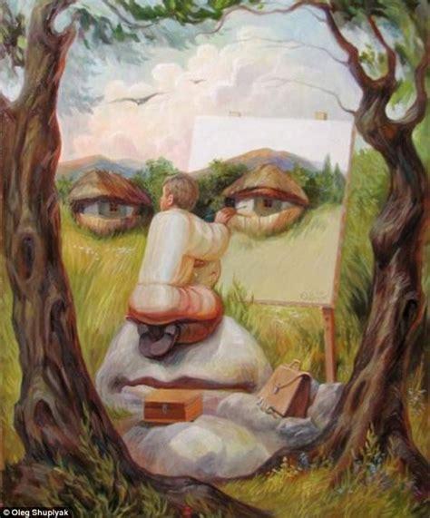 imagenes de obras historicas rostros en las pinturas cuadros dobles de oleg shuplyak