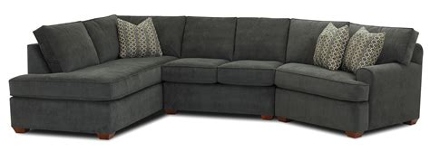 sectional sofa with left facing sofa chaise by klaussner
