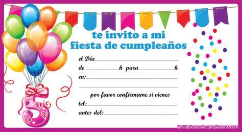 imagenes de invitaciones de cumpleaños bonitas invitaciones de cumplea 241 os para ni 241 os tarjetas de cumplea 241 os