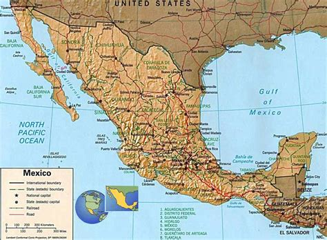 mexico states map mexico map map all maps of the world
