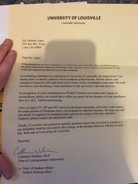 Indiana Acceptance Letter 18 best images about acceptance letters on new students student and college admission