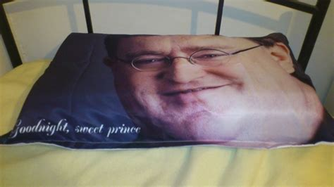 Goodnight Sweet Prince Pillow by Gaben Pillow Gabe Newell Your Meme