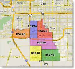 arizona zip code map new zip codes for chandler paul pastore east valley