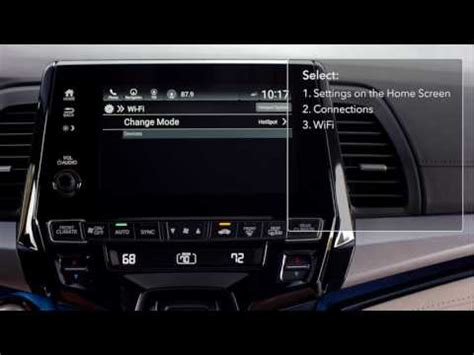 2018 honda odyssey: how to connect vehicle to the built in