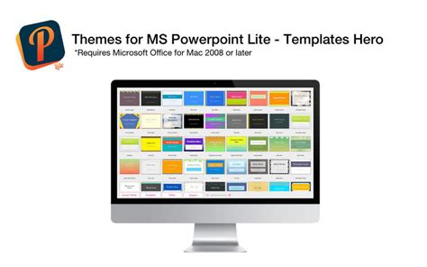 Themes For Ms Powerpoint Lite Templates Hero On The Mac App Store Powerpoint Templates For Mac Office 2008