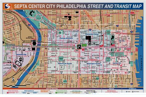 map of philadelphia philadelphia map tourist
