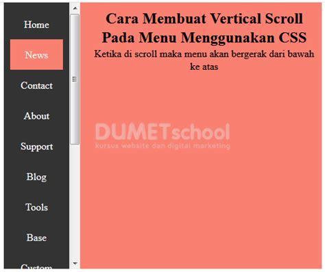 membuat menu dropdown vertikal dengan jquery membuat vertikal scroll pada menu menggunakan css