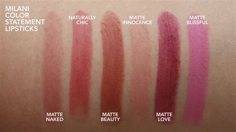 milani color statement lipstick swatches milani statement matte lipstick swatches wallpaperall