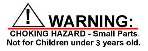 Stiker 0 3 Age Warning Sign choking hazard