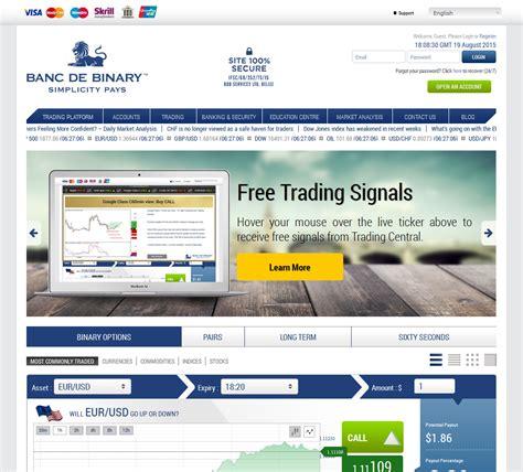 Banc de Binary   Trading Broker   IntelliTraders