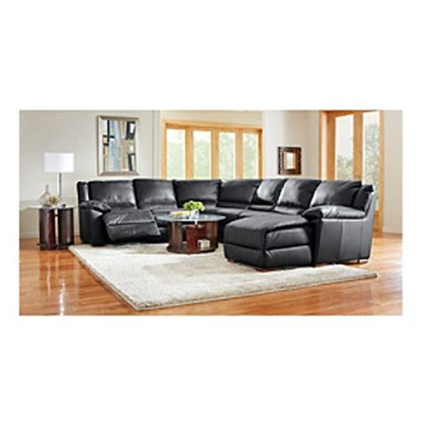 natuzzi black leather sectional natuzzi editions genoa black multi piece leather reclining