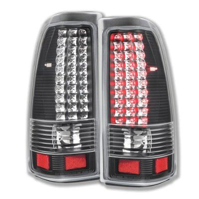 chevy silverado 2500 2003 2004 led tail lights black