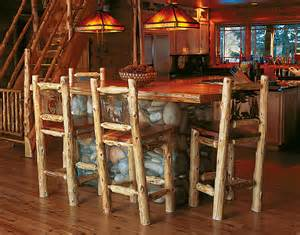 Kitchen Island Shapes Bar Stools Rustic Furniture Mall By Timber Creek