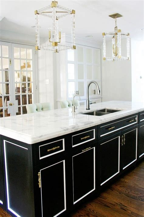 white and black kitchen cabinets best 25 black kitchen island ideas on pinterest