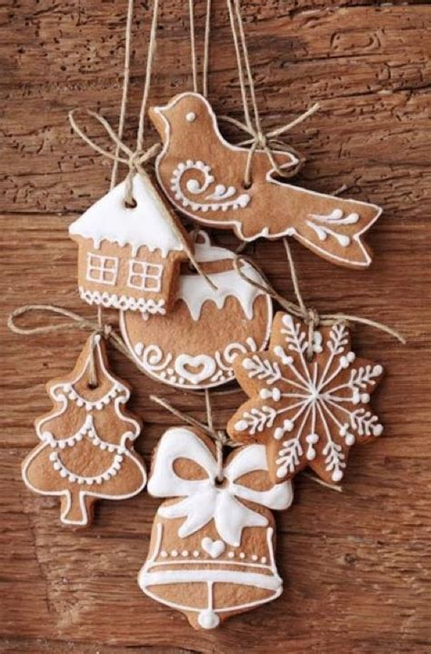 homemade gingerbread ornaments christmas ideas pinterest