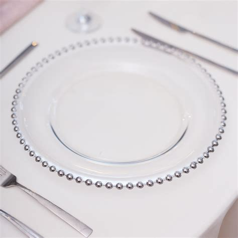 silver beaded charger plates silver beaded glass charger plates beyond expectations