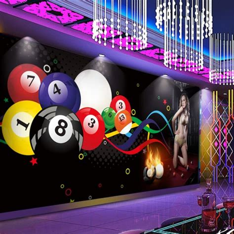 beibehang wallpaper mural custom  billiard ball sexy