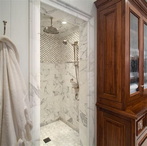 Calacatta Gold Marble Bathroom Calcutta Marble Transitional Bathroom Anne Sneed