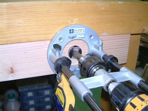 grizzly h7788 cabinet maker s vise grizzly h7788 cabinet maker s viseの取り付け 材料の加工穴あけ 田中英樹の木工
