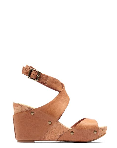 lucky brand wedge sandals lucky brand wedge sandals in brown lyst