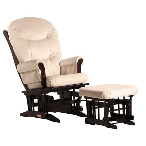 dutailier sleigh glider and ottoman dutailier sleigh glider and ottoman set in espresso and