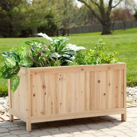 coral coast simply grow cedar patio planter box