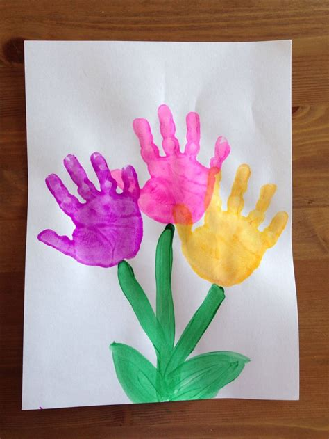 spring projects handprint flower craft spring craft preschool craft