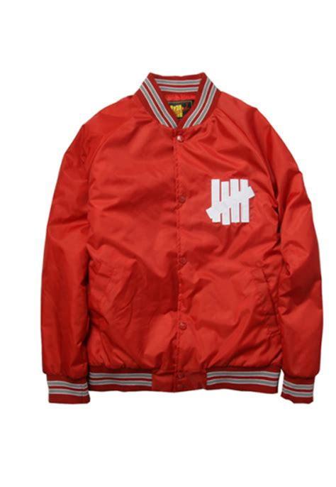 Undftd The Five Strikes by Undefeated Quot Undftd Five Strike Quot Varsity Jacket