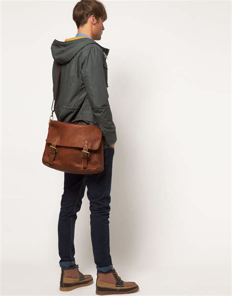 Ted Baker Ted Guys Ite1117 ted baker leather satchel in brown for lyst