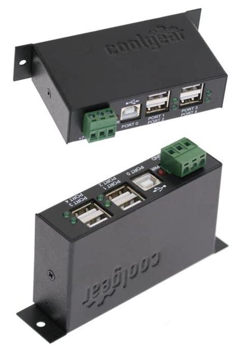 Car Computer Port by Industrial 4 Port Usb 2 0 Powered Hub For Pc Mac Din Rail