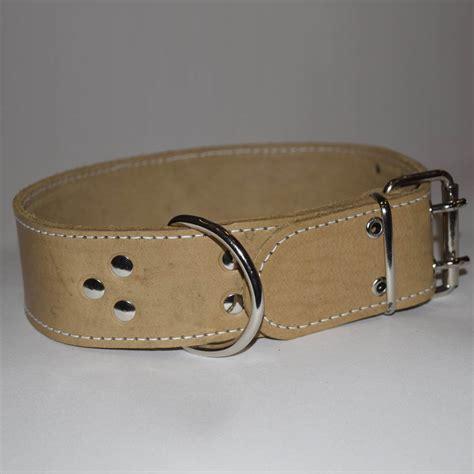 Handmade Leather Collars Uk - handmade leather collars with white stitching