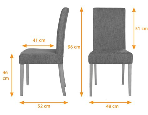 Standard Dining Chair Size Dining Room Chair Dimensions Vasa Dining Chair With Changeable Cover Nut Brown